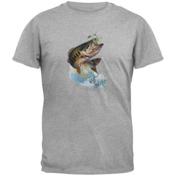 Fish And Hook Heather Gray T-Shirt
