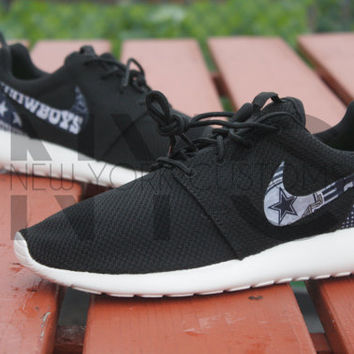 Dallas Cowboys Version 2 Nike Roshe Run Black Custom