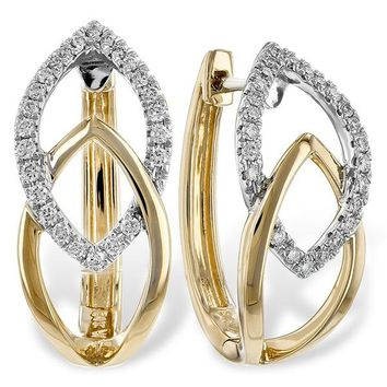 "Ben Garelick ""Apex"" Two-Tone Gold Diamond Earrings"