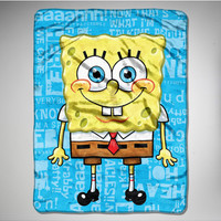 SpongeBob 'Chatterbox' Fleece Blanket