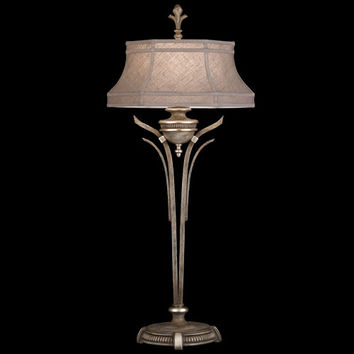 Fine Art Lamps 809815ST Villa Vista One-Light Console Lamp in Hand Painted Driftwood Finish On Metal with Silver Leafed Accents