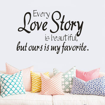 Newly Designed Every Love Story Wall Sticker Animals Cats Art Decal Kids Room Decoration Adults Bedroom