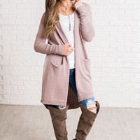 Stevie Button Up Cardigan (Mauve)