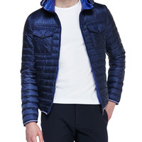 Men's Hooded Puffer Jacket, Navy - Moncler - Navy