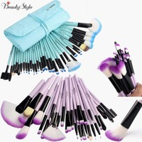 VANDER Professional 32 Pcs Cosmetic Makeup Brushes Set Makeup Brushes Foundation Powder Blush Eyeliner Brushes With Brush Roll