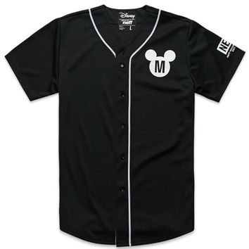 Neff Mickey Baseball Jersey - Mens Tee - Black