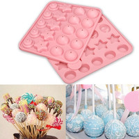 Party Cake Chocolate Cookie Lollipop Pop Mould Mold Baking Tray Stick Sucker = 5617061441