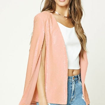 Sequined Cape Blazer