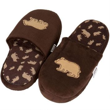 CREYON Brown Bear Adult Spa Slippers