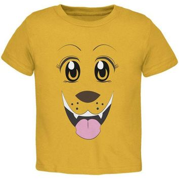 CREYCY8 Anime Dog Face Inu Gold Youth T-Shirt