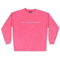 Sunday Morning Sweater in Strawberry Fizz by Southern Marsh
