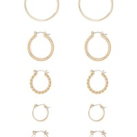 Ridged Hoop Earring Set