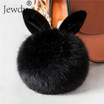 New Fluffy Bunny Toys Ear Keychain/Rabbit Key Chain