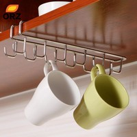 Stainless Steel Kitchen Storage Rack Cupboard Hanging Hook Shelf Dish Hanger Chest Storage shelf Bathroom Organizer Holder