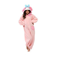 Sanrio Womens My Melody Kigurumi Halloween Party Complete Costume