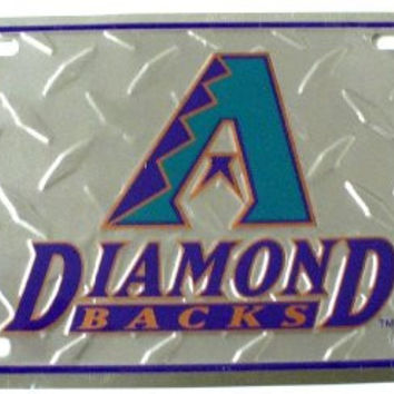 "Arizona Diamondbacks Diamond Cut Baseball 6"" x 12"" Embossed Aluminum License Plate"