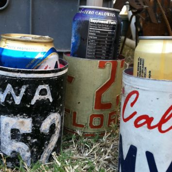 Recycled License Plate Can Koozie