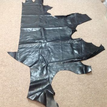 ZI07. Black Leather Cowhide Partial
