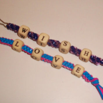 Set of Two Special Message Gimp Keychains