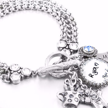 Child's Handwriting Charm Bracelet