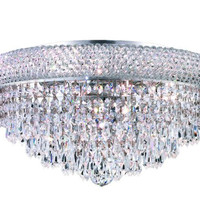 Adele - Flush Mount (8 Light Modern Flush Mount Crystal Chandelier) - 1531F16