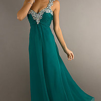 Long One Shoulder Formal Gown by Blush 9373