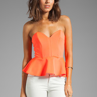 Boulee Gia Top in Neon Coral from REVOLVEclothing.com