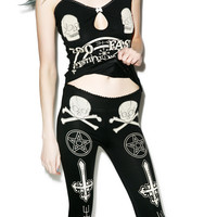 Too Fast Ouija Camille Pajama Set Black