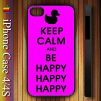 Duck Dynasty Keep Calm and be Happy Apple iPhone 4/4S Case Durable Plastic