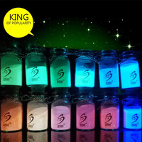 Hot 12 Colors Makeup Glow Powder Super Bright Glow in the Dark Power Nail Polish Glow Luminous Pigment Fluorescent Powder #78752
