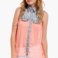 Star Struck Chiffon Top $48