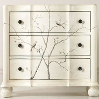 Hand-Painted Bird Chest - Cabinets -  Living Room -  Furniture | HomeDecorators.com