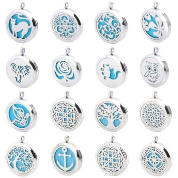 Aromatherapy Necklace Diffuser Pendant with Chain (10 FREE Felt Pads)