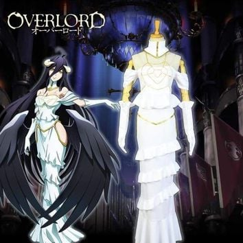 Japanese Anime Overlord 3 Albedo Dress Women Cosplay Costumes Sexy Queen Dresses Sets Macchar Cosplay Catalogue