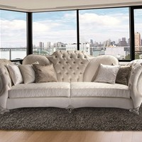TUFTED 4 SEATER FABRIC SOFA FLORINDO | FABRIC SOFA | MANTELLASSI 1926
