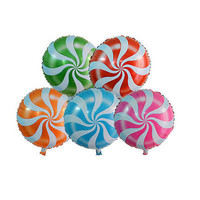 Candy Lollipop Peppermint Party Wedding Foil Helium Balloon Decoration 3C#