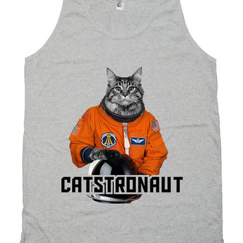 Funny Cat Tank Catstronaut Cat Clothing Kitty Clothes Pet Lover Gift Kitten Top American Apparel Tanks For Her Ladies Unisex Tank WT-308