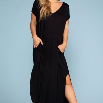 Sand Dollar Maxi Dress - Black