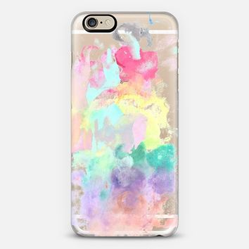 Modern trendy pink teal bright watercolor pattern iPhone 6s case by Pink Water | Casetify