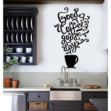 Vinyl Wall Decal Quote Coffee Kitchen Shop Restaurant Cafe Art Stickers Unique Gift (ig3352)