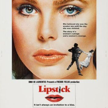 Lipstick Movie poster Metal Sign Wall Art 8in x 12in