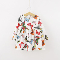 Stylish Baby Children Tunic Dress Toddler Girl Long Sleeve Butterfly Outfits SM6