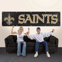 New Orleans Saints Applique and Embroidered 8 Foot Banner