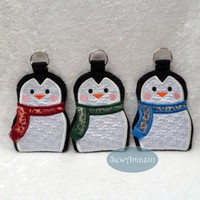 Penguin Gift Card/Money Holders Winter Snowflakes set of 3