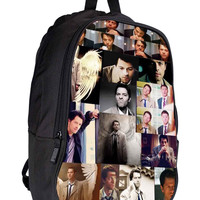 supernatural castiel collage a63b6edf-b423-4adf-bbea-68e5e8b74443 for Backpack / Custom Bag / School Bag / Children Bag / Custom School Bag *02*