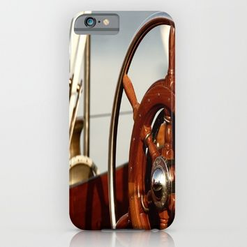 Staying on course at sea iPhone & iPod Case by Tanja Riedel
