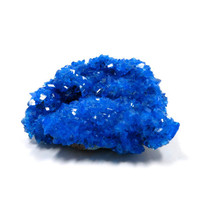 Chalcanthite Druzy Cluster Specimen 56mm x 46mm x 22mm Raw Crystal Electric Cobalt Blue Lab Grown / Synthetic Rough Stone (Lot 5891)
