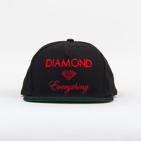 Diamond Everything Snapback in Black