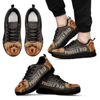 'World's Best Poodle Dad' Running Shoes-Father's Day Special