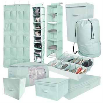 10PC Complete Dorm Organization Set - TUSK Storage - Calm Mint